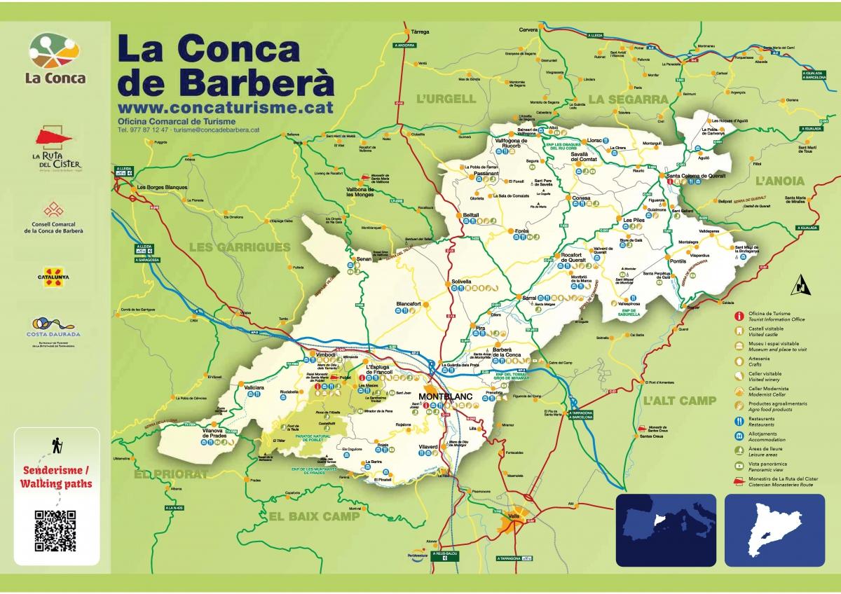 Vallfogona De Riucorb Mapa.Municipis Consell Comarcal Conca De Barbera